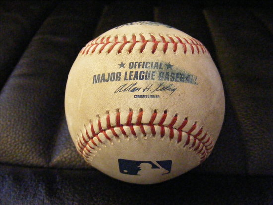 my first foul ball.JPG