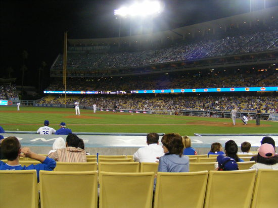 behind the dodger dugout.JPG