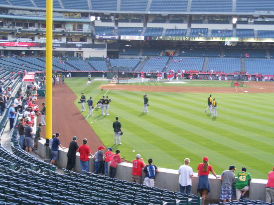 a's pitchers warmup.JPG