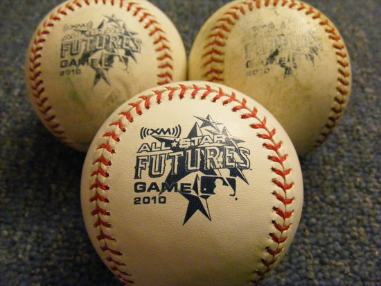 three futures game baseballs.JPG