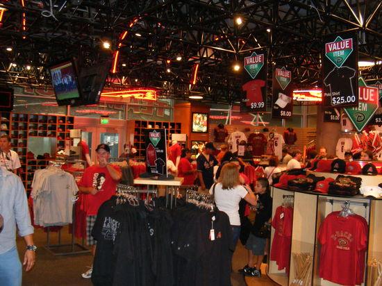 dbacks team store.JPG