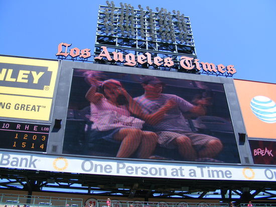 matt and michelle on jumbotron video.JPG